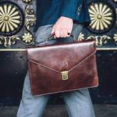 Maxwell Scott Bags Small Italian Leather Briefcase. 'The Lorenzo'