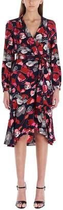 Diane von Furstenberg Ruffled Floral Wrap Dress