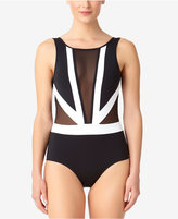 Anne Cole Hot Mesh Illusion One-Piece Swimsuit