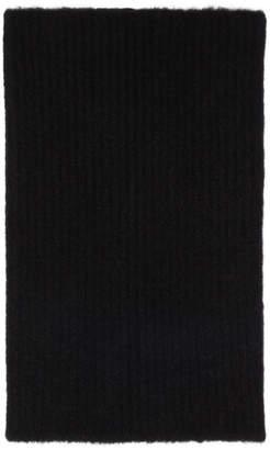 Rick Owens Black Wool and Yak Kleo Tube Scarf