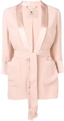 Twin-Set belted fitted jacket