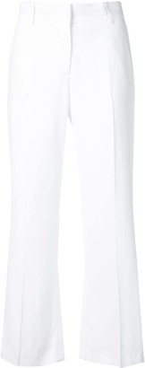 MSGM White Flared Trousers