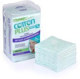 """A & W Cotton Plus 2in1 3x2.7"""" Maxi Makeup Remover Pads Facial Wipes Cleaner 50 Counts"""