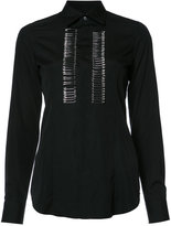DSQUARED2 safety pin embellished shirt - women - Cotton - 38