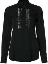 DSQUARED2 safety pin embellished shirt