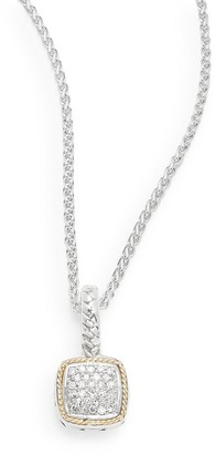 Effy Diamond in 18K Gold and Sterling Silver Necklace