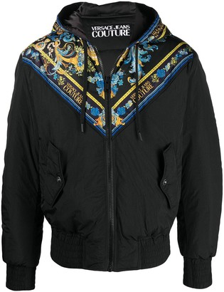 Versace Jeans Couture Baroque-Print Hooded Jacket