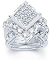 MODERN BRIDE 5 CT. T.W. Diamond 14K White Gold Multi-Top Engagement Ring