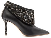 Malone Souliers Tomi Crystal-embellished Leather Ankle Boots - Womens - Black