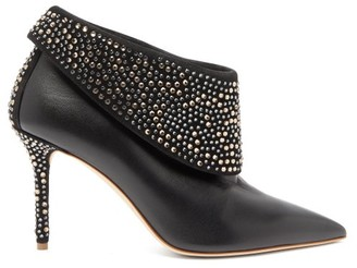 Malone Souliers Tomi Crystal-embellished Leather Ankle Boots - Black