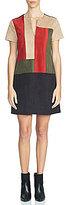 1 STATE Colorblock V-Neck Shift Dress