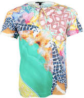 Jenny Collicott Unisex Giraffe Textured Bird Printed T Shirt Tee