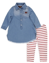 7 For All Mankind Girls' Denim Dress & Leggings Set - Baby