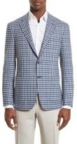 Canali Men's Kei Classic Fit Plaid Wool Sport Coat