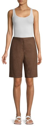 Eileen Fisher Linen Walking Shorts