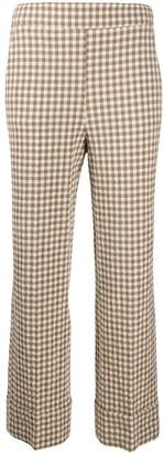 Incotex High-Rise Gingham Trousers