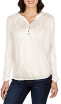 Lucky Brand Mix Knit Floral Top
