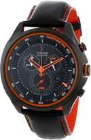 Citizen AT2185-06E Eco-Drive Men's Drive Ion Case /Orange Dial Chronograph Watch