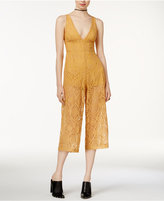 MinkPink Desert Sunset Cropped Lace Jumpsuit