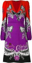 Roberto Cavalli paisley V-neck dress - women - Silk/Viscose - 42