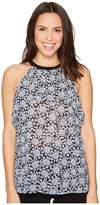 MICHAEL Michael Kors Large Jewel Flounce Top Women's Clothing