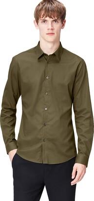 Find. Men's Plain Poplin Slim fit Shirt