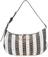 Nina Ricci striped shoulder bag - women - Leather - One Size