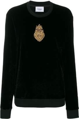 Dondup embellished long-sleeve top