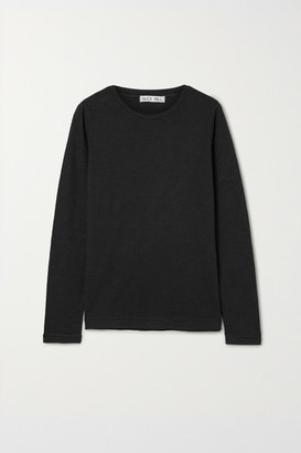 Alex Mill Slub Cotton-jersey Top - Black
