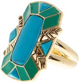 House Of Harlow Nile Delta Cocktail Ring - Size 6