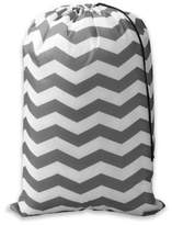 Bed Bath & Beyond Chevron Novelty Laundry Bag in Grey/White