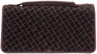 Bottega Veneta Brown Suede Clutch bags