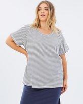Junarose Striped Short Sleeved Shirt
