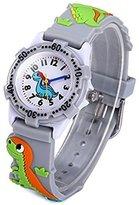 Vavna Kids Girls Boys Analog Watch Dinosaur 3D Silicone Children Cartoon Watch Xmas Birthday Gift