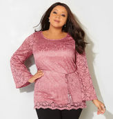 Avenue Swirl Lace Belted Top