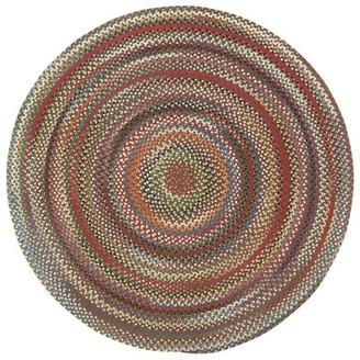 "Loon Peak Omaha Hand Braided Brown Rug Rug Size: Round 1'3"""