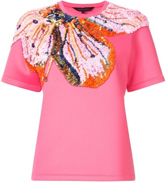 Manish Arora sequin flower T-shirt