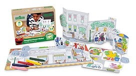 Green Toys Sesame Street Neighborhood Maker Coloring Activity Set - Ages 2+