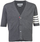 Thom Browne cashmere short sleeve v-neck cardigan