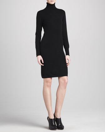 Neiman Marcus Turtleneck Cashmere Dress