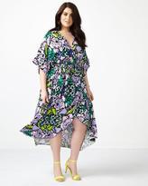 Penningtons MELISSA McCARTHY Printed Wrap Maxi Dress