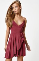 La Hearts Cupro Wrap Dress