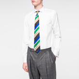 Paul Smith Men's Tailored-Fit White Diamond-Weave Double-Cuff Shirt