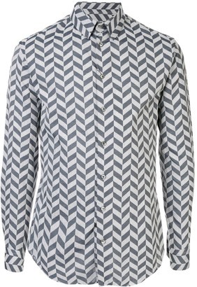 Giorgio Armani long-sleeved chevron shirt