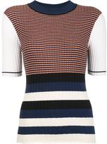 Opening Ceremony colour block top - women - Cotton/Lurex/Polyester/Viscose - S