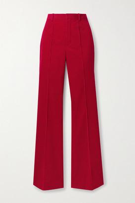 Saint Laurent Cotton-corduroy Flared Pants - Brick