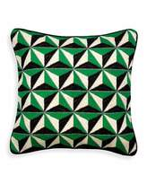 Jonathan Adler Green 3D Bargello Diamond Stud Pillow