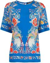 Roberto Cavalli floral embroidery blouse