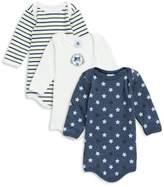 Petit Bateau Baby's Three-Piece Cotton Bodysuit Set