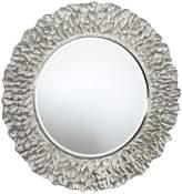 Deknudt Flora Wall Mirror PU Frame Silver Finish